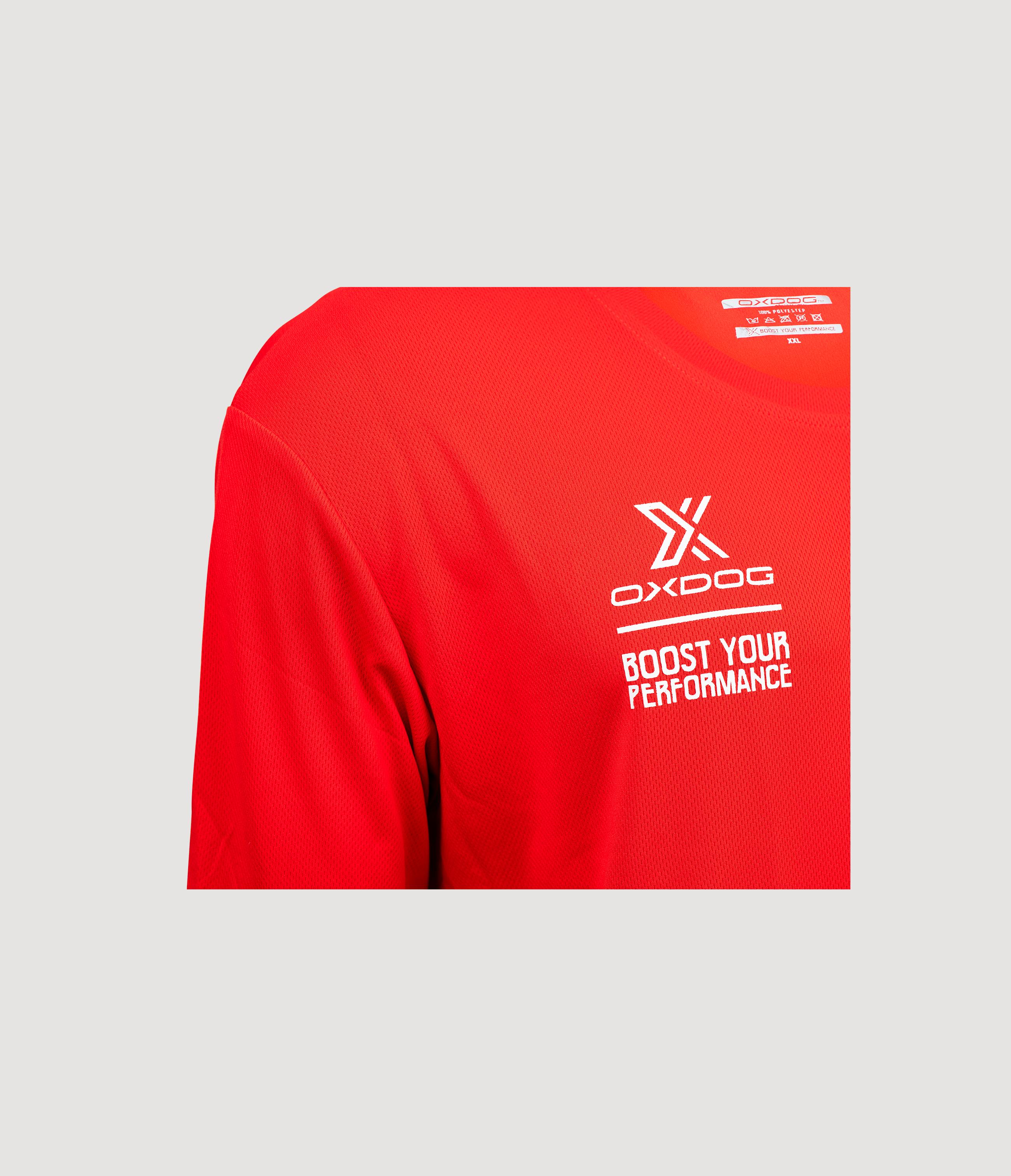 Atlanta II Training Shirt Red Closeup