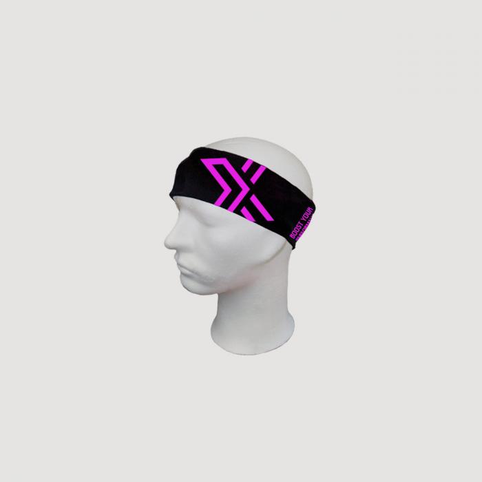 Bright Headband Black/Pink